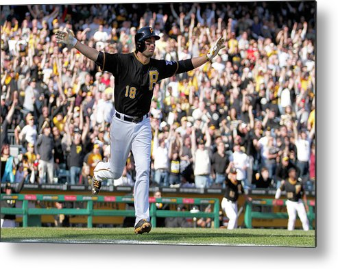 Professional Sport Metal Print featuring the photograph Chicago Cubs V Pittsburgh Pirates 8 by Justin K. Aller