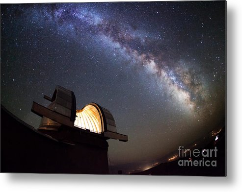 Atmosphere Metal Print featuring the photograph Astronomical Observatory Under The Stars by Smilyk Pavel