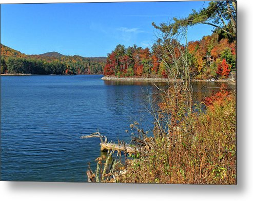 Lake Glenville Metal Print featuring the photograph Autumn In North Carolina by HH Photography of Florida