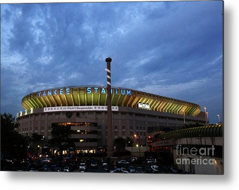 American League Baseball Metal Print featuring the photograph Baltimore Orioles V New York Yankees by Chris Mcgrath