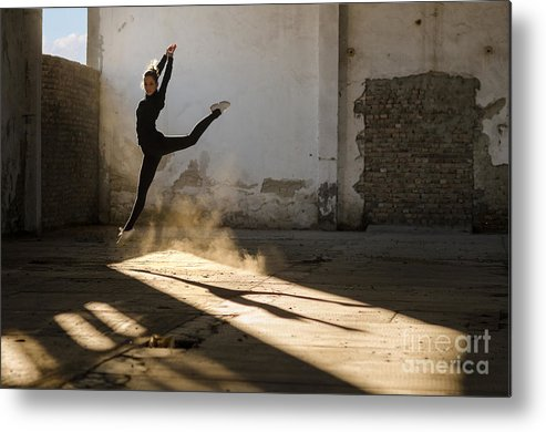 Practice Metal Print featuring the photograph Beautiful Young Ballerina Dancing In by Sasa Prudkov