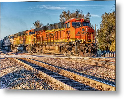 Bnsf Metal Print featuring the photograph Bnsf8099 by Jim Thompson