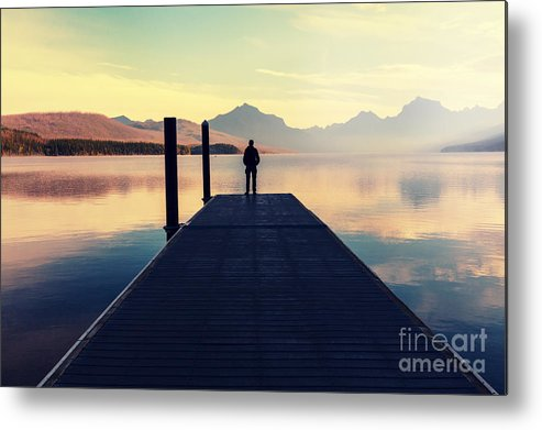 Serenity Metal Print featuring the photograph Bowman Lake In Glacier National Park by Galyna Andrushko