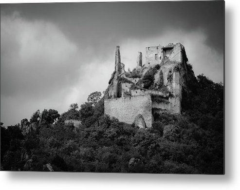 Medieval Metal Print featuring the photograph Burgruine Durnstein by Borja Robles