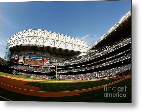 Opening Ceremony Metal Print featuring the photograph Chicago Cubs V Houston Astros by Chris Graythen
