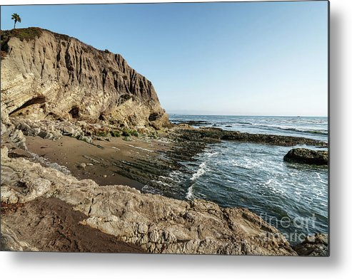 Landscape Metal Print featuring the photograph Cliff In The Ocean by Hanna Tor
