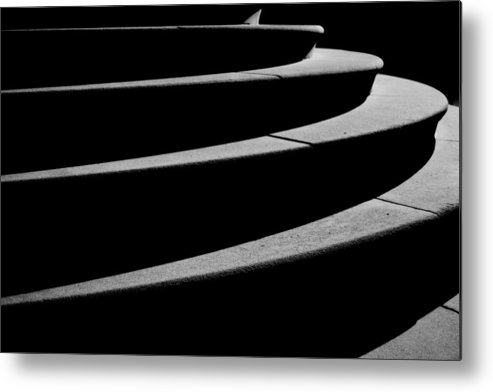 Steps Metal Print featuring the photograph Curves Of Light And Shadow by Gregory Strong