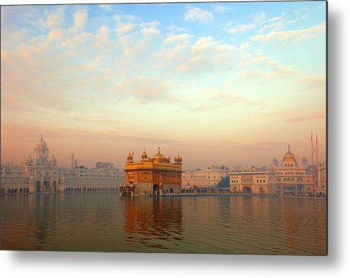 Dawn Metal Print featuring the photograph Dawn At The Golden Temple, Amritsar by Adrian Pope