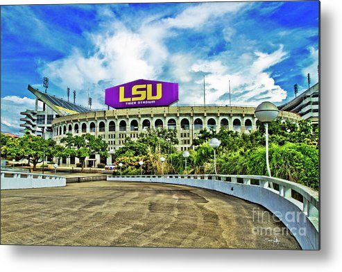 Lsu Metal Print featuring the photograph Death Valley by Scott Pellegrin