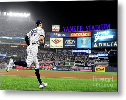 People Metal Print featuring the photograph Divisional Round - Boston Red Sox V New by Elsa