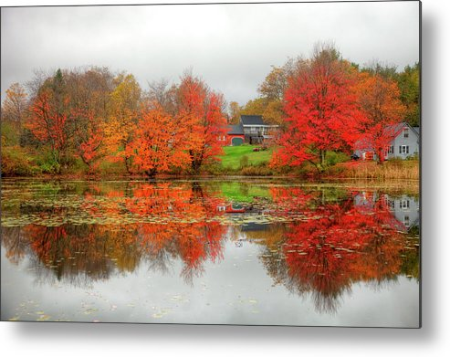Scenics Metal Print featuring the photograph Fall Foliage In Rural New Hampshire by Denistangneyjr