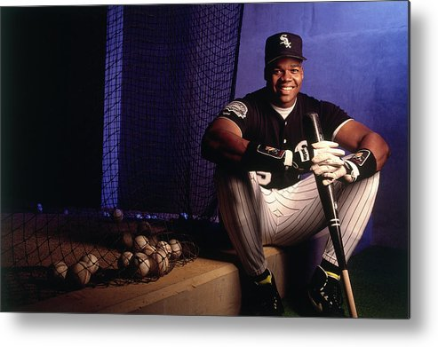 American League Baseball Metal Print featuring the photograph Frank Thomas by Ronald C. Modra/sports Imagery