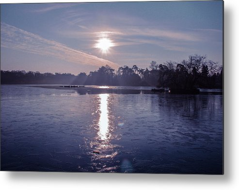 Lake Metal Print featuring the photograph Frozen by Claire Lowe