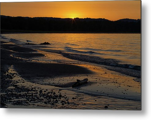 Sleeping Metal Print featuring the photograph Good Harbor Bay Sunset by Heather Kenward