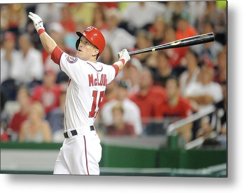 American League Baseball Metal Print featuring the photograph Houston Astros V Washington Nationals by Mitchell Layton