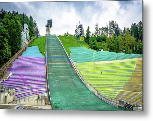 Olympic Metal Print featuring the photograph Innsbruck Olympic Stadium by Borja Robles