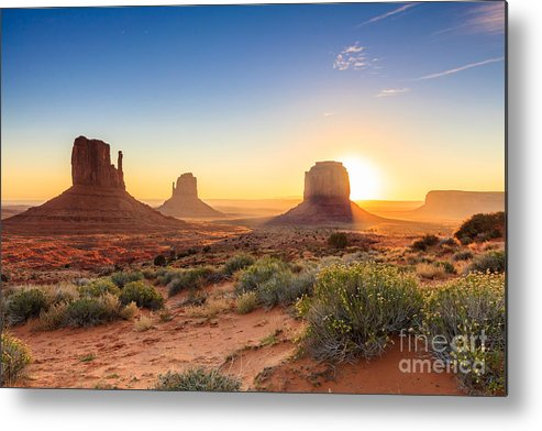 Southwest Metal Print featuring the photograph Monument Valley Twilight, Az, Usa by F11photo
