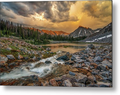 Idaho Scenics Metal Print featuring the photograph Mountain Glow by Leland D Howard