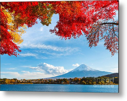 Kawaguchiko Metal Print featuring the photograph Mt. Fuji In Autumn by Esb Professional