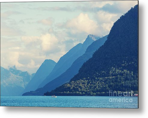 Serenity Metal Print featuring the photograph Norway Landscapes by Galyna Andrushko