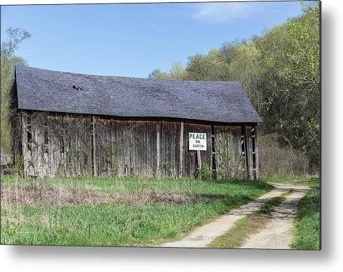 Old Barn Metal Print featuring the photograph Peace On Earth 2013 by Thomas Young