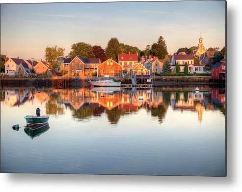 Water's Edge Metal Print featuring the photograph Portsmouth New Hampshire by Denistangneyjr