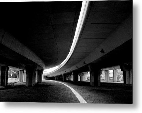 Freeway Metal Print featuring the photograph Reflection In Shadow by Edward Swearingen