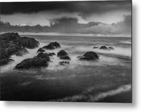 Norway Metal Print featuring the photograph Rocks In The Storm by Kai Mueller