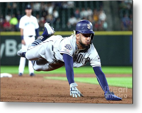 People Metal Print featuring the photograph San Diego Padres V Seattle Mariners by Abbie Parr