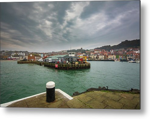 Scarborough Metal Print featuring the mixed media Scarborough Harbour by Smart Aviation