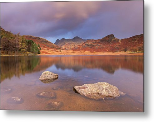 Scenics Metal Print featuring the photograph Sunrise Over Blea Tarn And The Langdale by Adam Burton / Robertharding