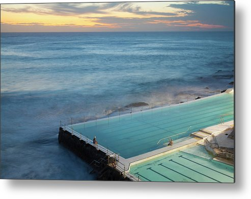 Scenics Metal Print featuring the photograph Swimming Pools At Bondi Beach, Before by Kathrin Ziegler
