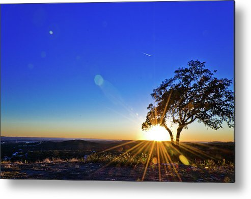 Scenics Metal Print featuring the photograph Texas Hill Country At Sunset by Bullcreekstudio.com