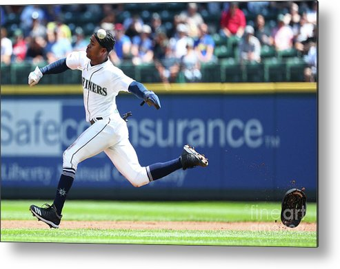 People Metal Print featuring the photograph Texas Rangers V Seattle Mariners by Abbie Parr