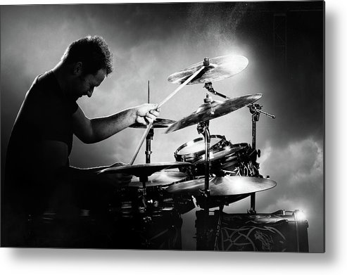 Drummer Metal Print featuring the photograph The Drummer by Johan Swanepoel