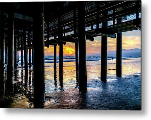 Under The Pier Metal Print featuring the photograph The Light Downunder by Gene Parks