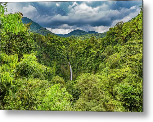 Waterfall Metal Print featuring the photograph The Peaceful Spirits Waterfall by Betsy Knapp