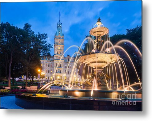 Politics Metal Print featuring the photograph The Quebec Parliament Building And The by Maurizio De Mattei
