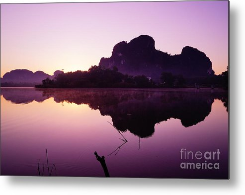 Sky Metal Print featuring the photograph Title The Peaceful Mountain by Pk Kaew