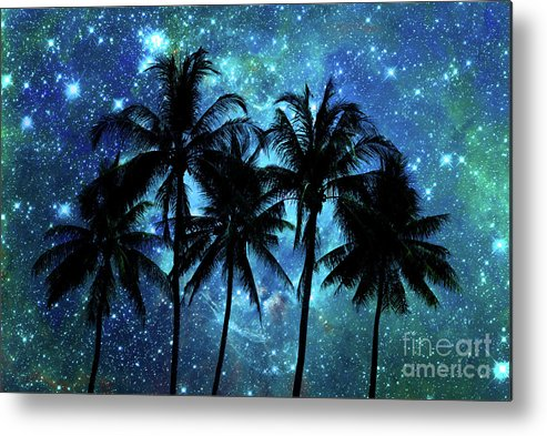 Night Metal Print featuring the photograph Tropical Night by Delphimages Photo Creations
