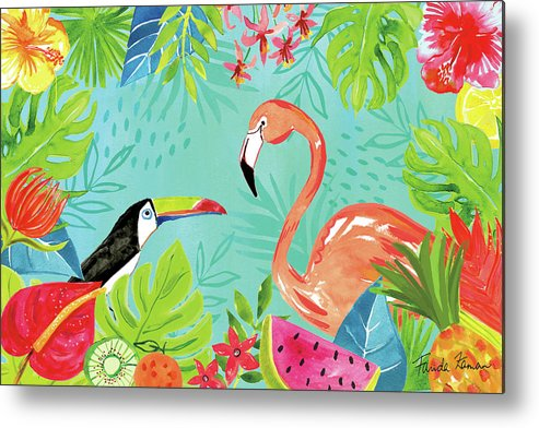 Animals Metal Print featuring the painting Tutti Frutti IIi by Farida Zaman