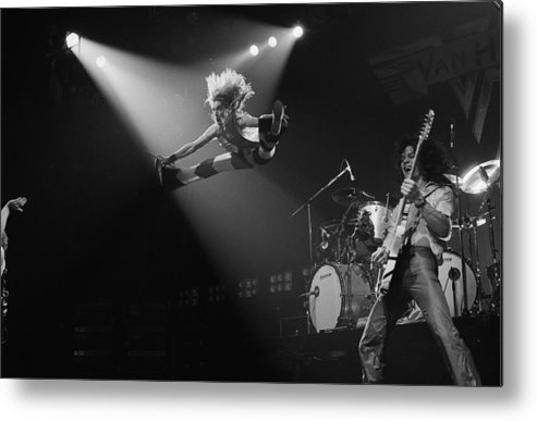 Singer Metal Print featuring the photograph Van Halen At The Rainbow by Fin Costello
