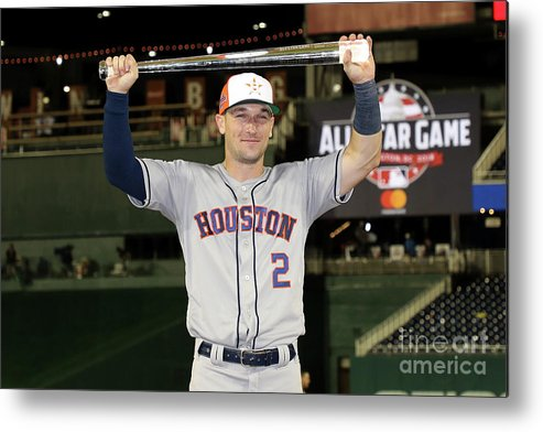 Alex Bregman Metal Print featuring the photograph Alex Bregman by Rob Carr