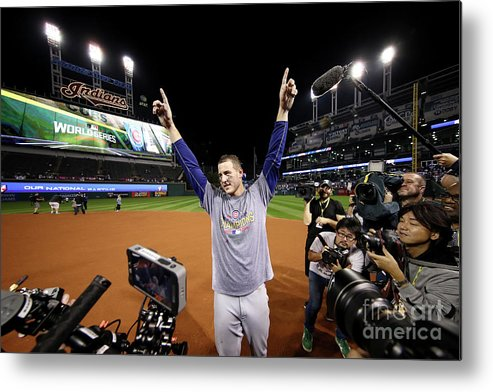 People Metal Print featuring the photograph Anthony Rizzo by Ezra Shaw