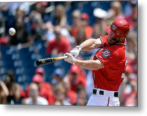 Second Inning Metal Print featuring the photograph Bryce Harper by Patrick Mcdermott