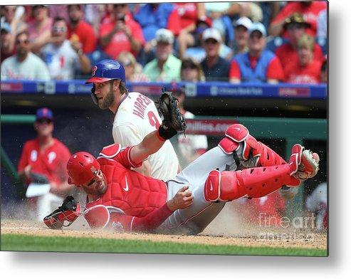Baseball Catcher Metal Print featuring the photograph Bryce Harper by Rich Schultz