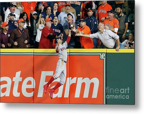 People Metal Print featuring the photograph Charlie Morton And Mookie Betts by Bob Levey
