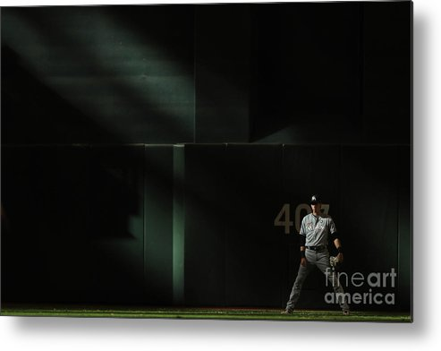 Ninth Inning Metal Print featuring the photograph Christian Yelich by Christian Petersen