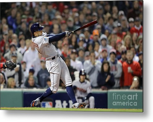People Metal Print featuring the photograph George Springer by Elsa