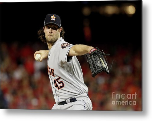 American League Baseball Metal Print featuring the photograph Gerrit Cole by Patrick Smith